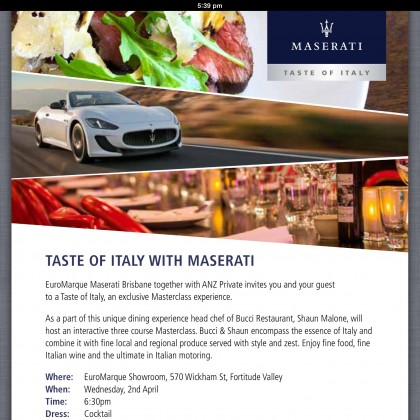 Getting EXCITED .. Tomorrow's the first official speaking event at EuroMarque Tastes of Italy :-)