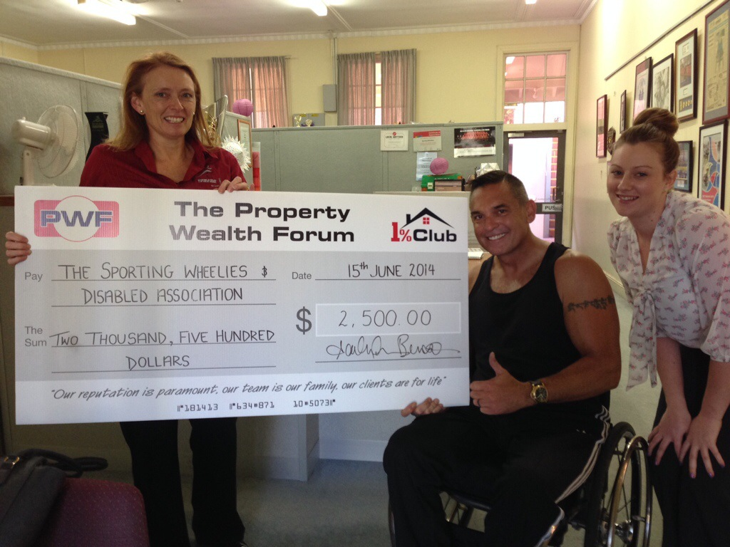 Now this ? Is a BIG Cheque >>> Thanks PWF >>>