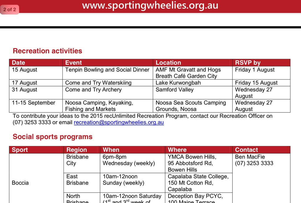 Sporting Wheelies , Here's what they DO , 2014 Activities with the Association >>>>