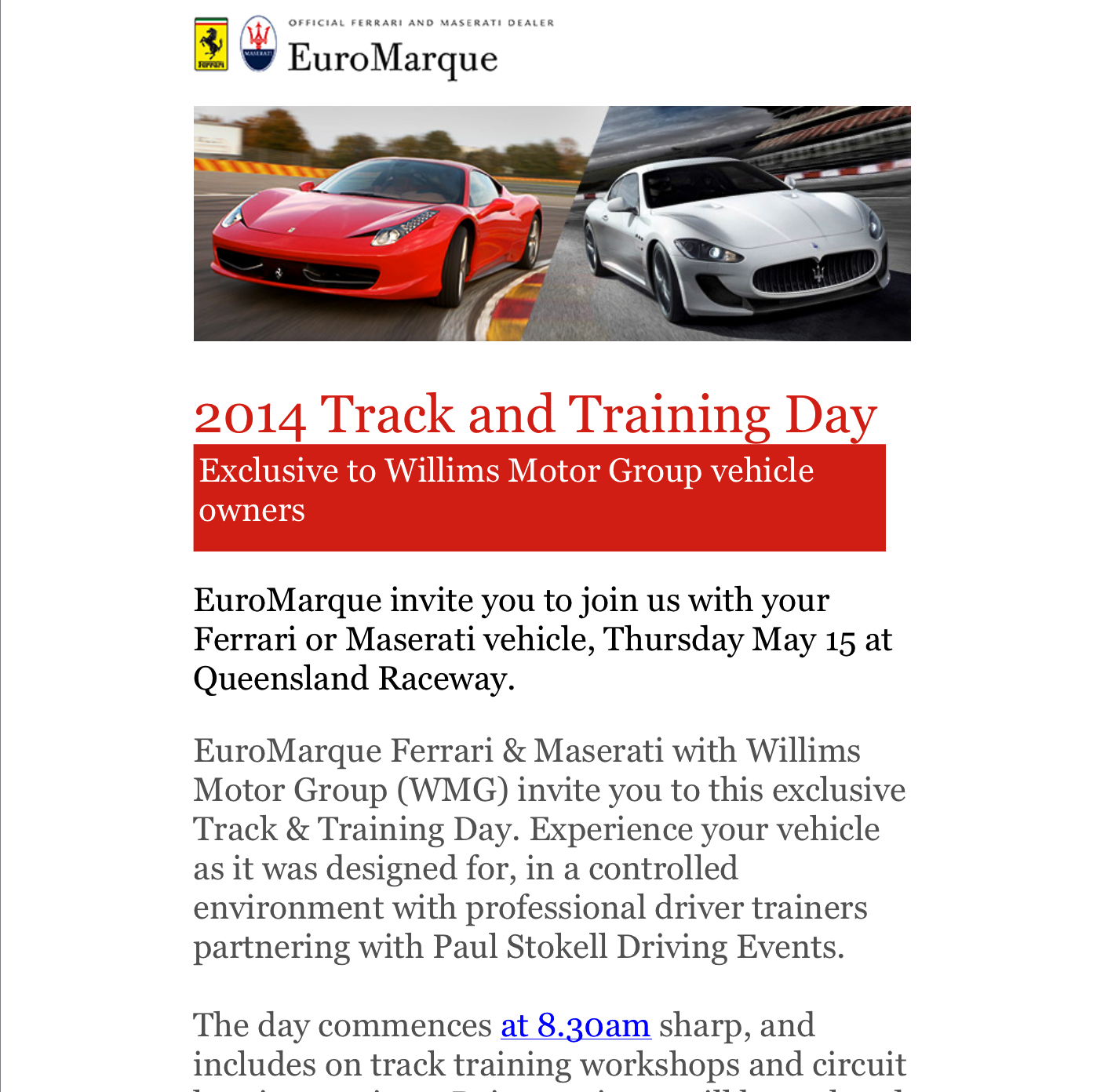 """My LAST """"Track and Training"""" day before Round 1 of the Targa >>>"""