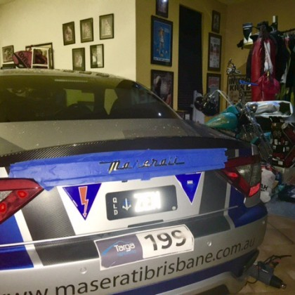 Whilst I have left over cans of plastic dip ? Might black out the rear Maserati Logo >>>